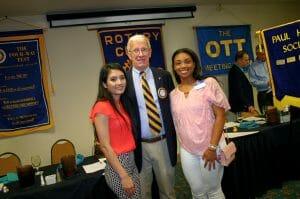 2017 Rotary scholarship winners and Jim Beltz