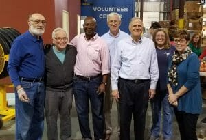 Rotary Club of North Charleston voluteers at Lowcountry Food Bank